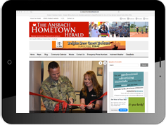 Online advertising on the website of our military newspaper The Ansbach Hometown Hearld