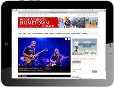 """Online Werbung in der amerikanischen Militärzeitung """"The Ansbach Hometown Herald"""""""