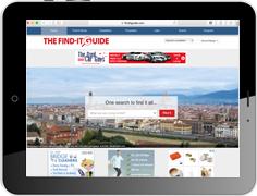 """Online Werbung in dem amerikanischen Nachschlagewerk """"The Find-It Guide"""""""