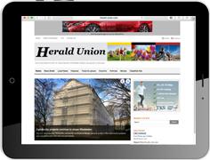 """Online Werbung in der amerikanischen Militärzeitung """"Herald Union"""""""