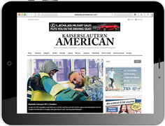 Online advertising on the website of our military newspaper Kaiserslautern American