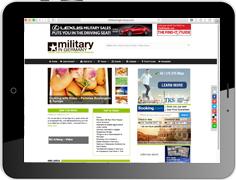 """Online Werbung in der amerikanischen Lifestyle Portal """"Military In Germany"""""""