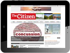 """Online Werbung in der amerikanischen Militärzeitung """"The Citizen"""""""