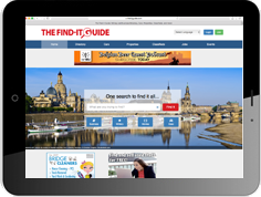 Online advertising on the website of our reference book The Find-It Guide